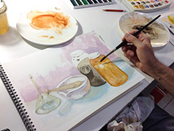 painting intensive course - introduction to watercolor